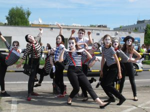 Pantomime auf den Krakauer Straßen. © Ricarda Lindau