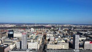 Über den Dächern von Warschau: Der Ausblick von der Aussichtsterrasse des Kulturpalastes. © Franziska Rabus