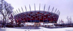 In Polen zuhause: Das Nationalstadion in Warschau erinnert Izabella an ihre zweites Zuhause. © Izabella Meczykowski