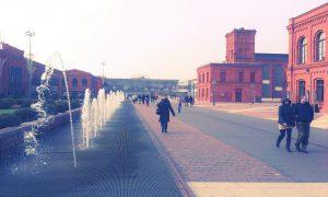 Die Manufaktura Łódź ist eins der größten Einkaufs- und Erlebniscenter in Polen. © Lena Schraml