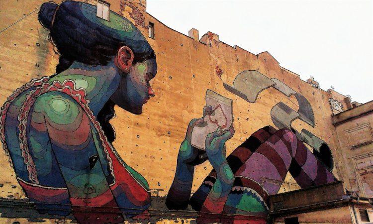 Für die großflächigen Streetart-Bilder ist Lodz weltweit bekannt. © Lena Schraml