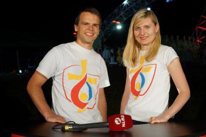 Rudolf und Natalie berichten als EWTN-Moderatoren beim Weltjugentag in Krakau. © Francisco Kröger