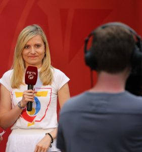 Natalie Junghof berichtet live vom Weltjugendtag in Krakau. © Bronisław Staworowski