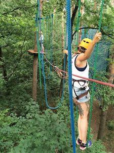 Die Studentin liebt die Herausforderung und hat in Polen zahlreiche Sportaktivitäten ausprobiert. © Laura Belting