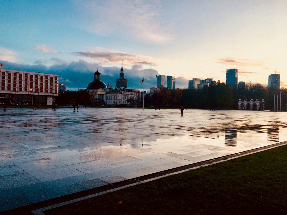 Der Pilsudski-Platz, der größte und bekannteste Platz in Warschau. © Emilia Butynski