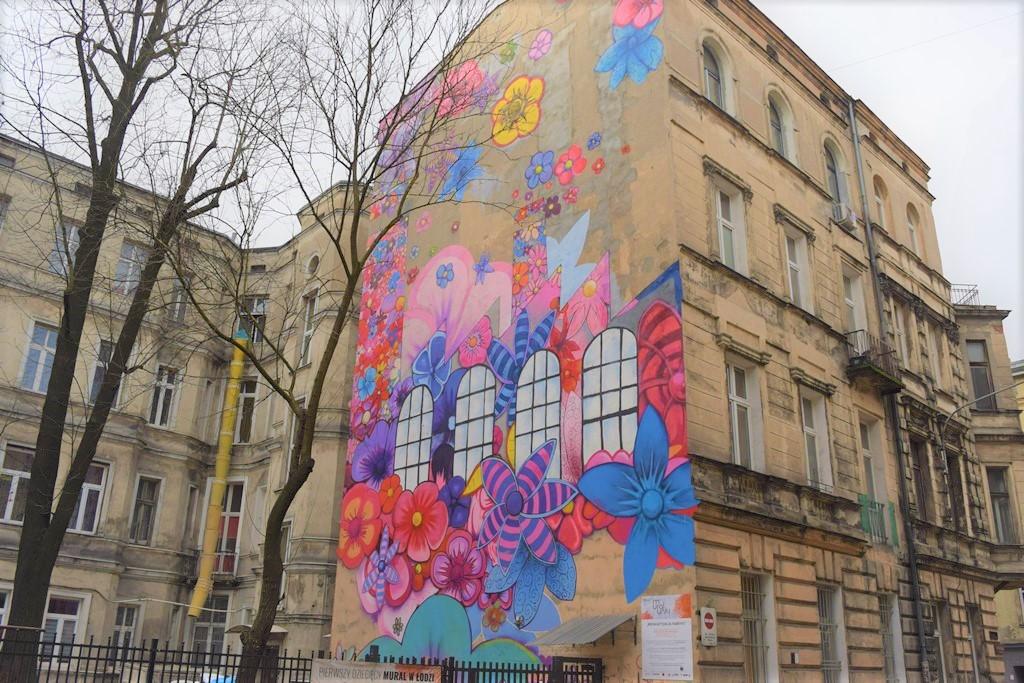Zahlreiche Graffitis schmücken die Wände in Lodz. © Helena Österdiekhoff