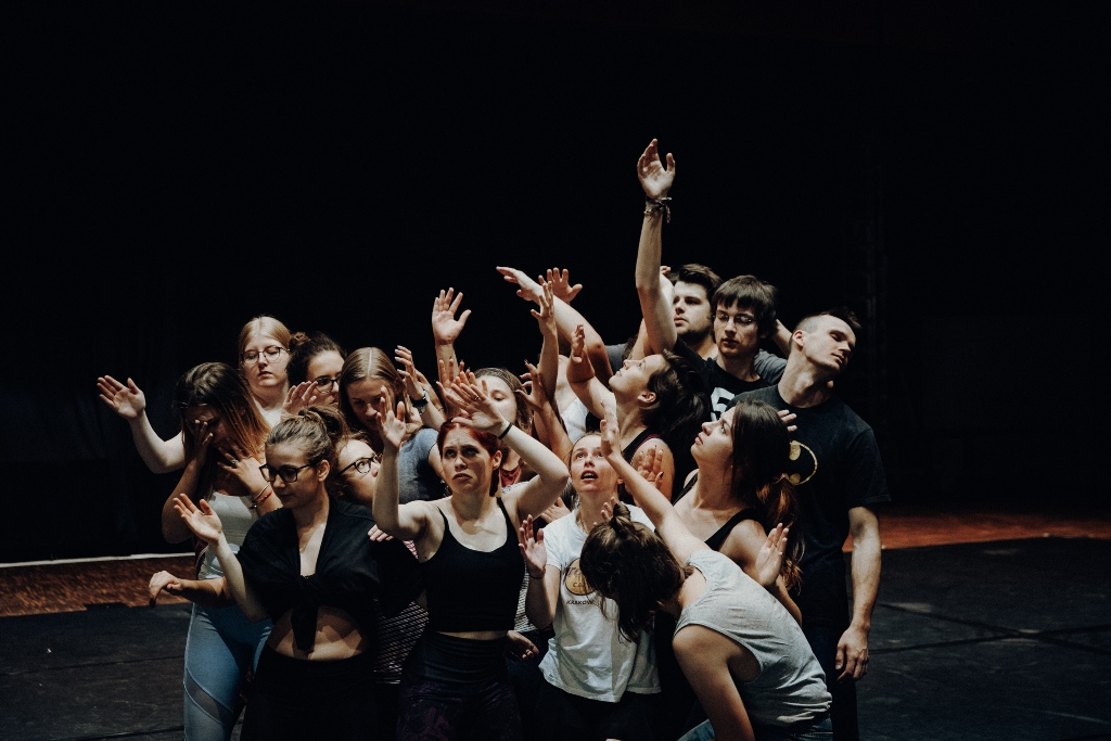 Pantomime Workshop im Musischen Zentrum in Bochum. © Michael Schwettmann