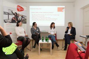 Podiumsdiskussion bei der Auftaktveranstaltung PolMotion NRW im Polnischen Institut Düsseldorf. © Hanne Brandt